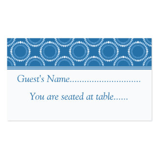 Sleek and Polished Wedding Place Cards, Blue Business Card Templates