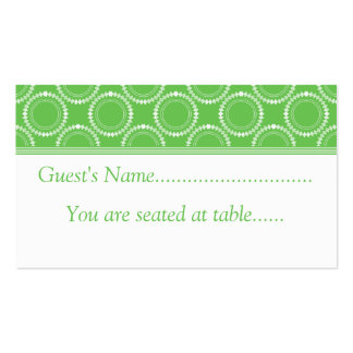 Sleek and Polished Wedding Place Cards, Green Business Card Template