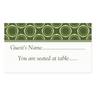 Sleek and Polished Wedding Place Cards, Green Business Card