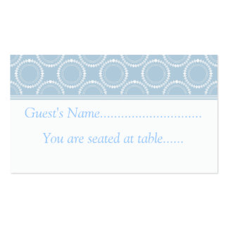 Sleek and Polished Wedding Place Cards, Light Blue Business Cards
