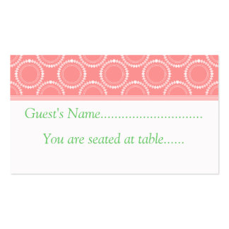 Sleek and Polished Wedding Place Cards, Pink Business Card Template