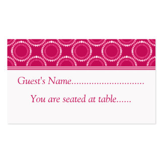 Sleek and Polished Wedding Place Cards, Pink Business Card