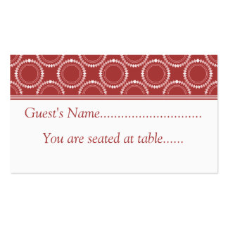 Sleek and Polished Wedding Place Cards, Red Business Cards