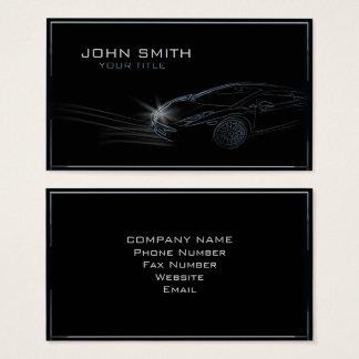 Sleek Automobile Outline Business Card