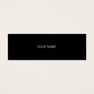 Sleek Black Mini Business Card
