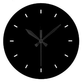 Sleek Black Modern Dark Color Bold Stylish Chic Clocks