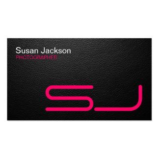 Sleek Black Photographer s Business Card