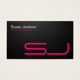 Sleek Black Photographer's Business Card