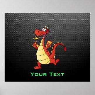 Sleek Cartoon Dragon Print