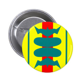 sleek cool fun blue red yellow racing stripes 6 cm round badge