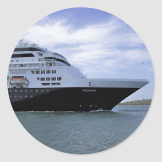 Sleek Cruise Ship Bow Classic Round Sticker