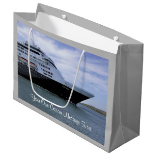 Sleek Cruise Ship Bow Custom Large Gift Bag