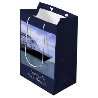 Sleek Cruise Ship Bow Custom Medium Gift Bag
