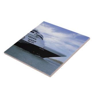 Sleek Cruise Ship Bow Large Square Tile