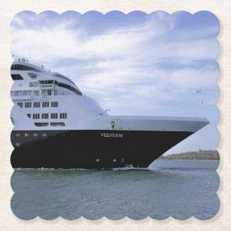 Sleek Cruise Ship Bow Paper Coaster