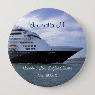 Sleek Cruise Ship Bow Personalized 10 Cm Round Badge