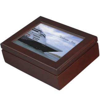 Sleek Cruise Ship Bow Personalized Keepsake Box