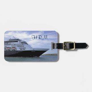 Sleek Cruise Ship Bow Personalized Luggage Tag