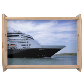 Sleek Cruise Ship Bow Serving Tray