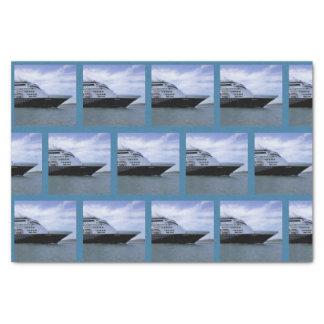 Sleek Cruise Ship Bow Tissue Paper