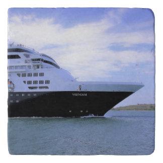 Sleek Cruise Ship Bow Trivet