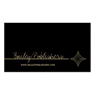 Sleek Diamond Business Card, Black and White
