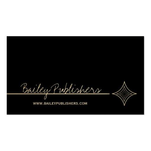 Sleek Diamond Business Card, Black and White