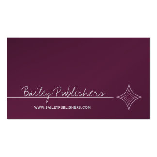 Sleek Diamond Business Card, Eggplant