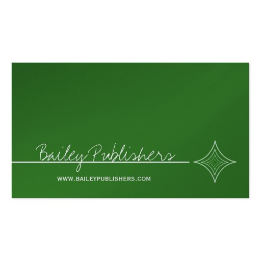 Sleek Diamond Business Card, Kelly Green
