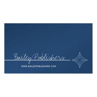 Sleek Diamond Business Card Royal blue
