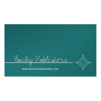 Sleek Diamond Business Card, Turquoise