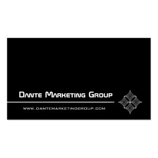 Sleek Embellished Diamond Business Card, Black