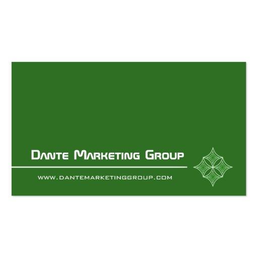 Sleek Embellished Diamond Business Card, Green