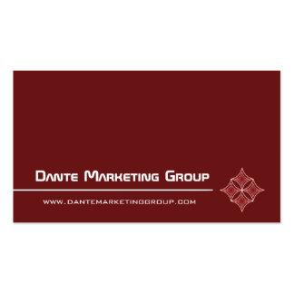Sleek Embellished Diamond Business Card, Maroon