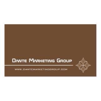 Sleek Embellished Diamond Business Card, Mocha