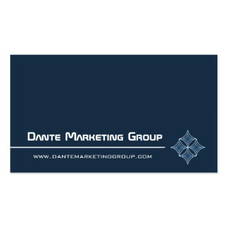 Sleek Embellished Diamond Business Card Navy