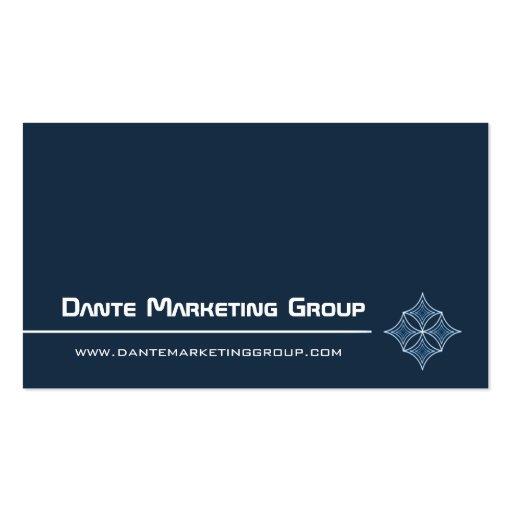 Sleek Embellished Diamond Business Card, Navy