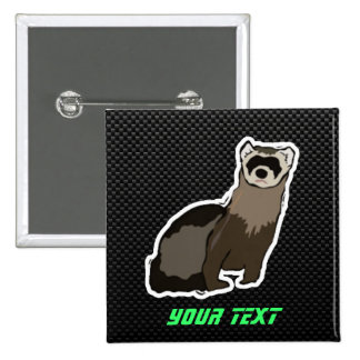 Sleek Ferret 15 Cm Square Badge