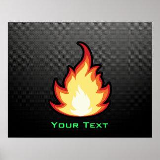 Sleek Fire Flame Poster