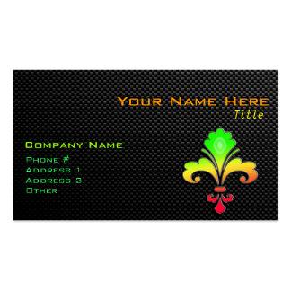 Sleek Fleur de lis Business Card Templates
