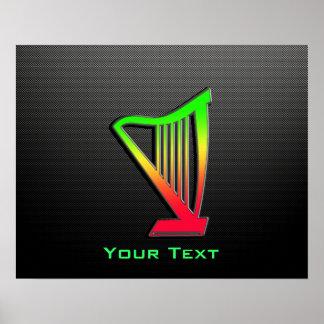 Sleek Harp Poster