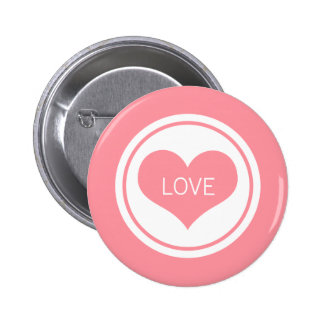 Sleek Heart Button, Pink