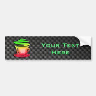 Sleek Hot Coffee Bumper Sticker