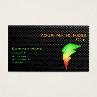 Sleek Lightning Bolt Business Card