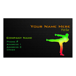 Sleek Martial Arts Pack Of Standard Business Cards