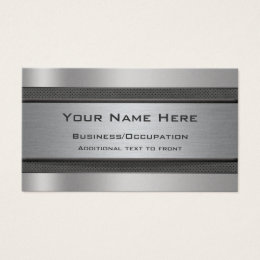 Carbon fibre office supplies stationery zazzle sleek metal and carbon fibre effect business card reheart Choice Image