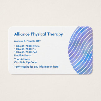 Sleek Modern Physical Therapist Business Card