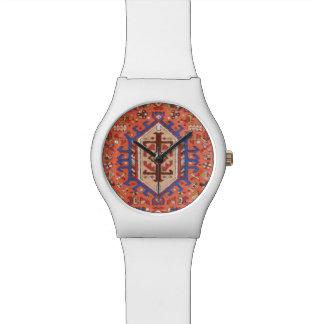 Sleek Modern White & Persian Design Watch