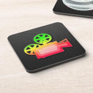 Sleek Movie Camera Coasters