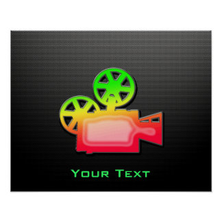 Sleek Movie Camera Poster
